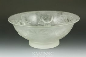 Frosted Lily Pad Bowl