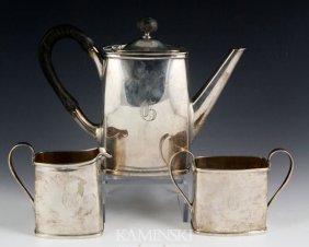 3 Piece Erickson Sterling Tea Set