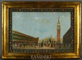 19th C. Pair Of Venetian Hand-Colored Prints