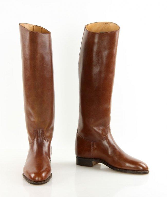 John Lobb Leather Riding Boots Lot 7083
