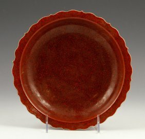 Chinese Oxblood Red Plate