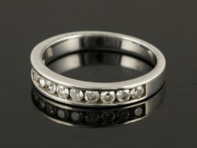 Diamond And Platinum Wedding Ring