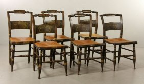 Set Of 6 Hitchcock Chairs