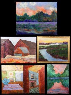 Caro, Lot Of 6 Paintings