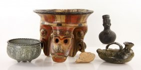 Lot Of 6 Pre Columbian Style Objects