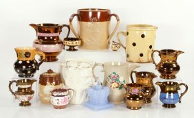 Lot Of Antique English Pottery