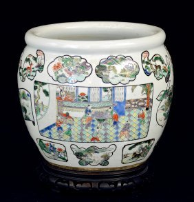Daoguang Famille Rose Fish Pot
