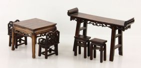 Six Chinese Miniature Furniture