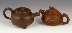 Two Yixing Pottery Teapots