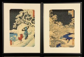Two Japanese Woodblock Printings