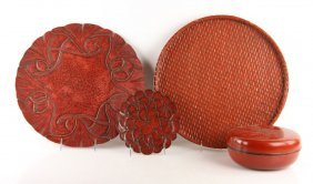 Four Japanese Lacquered Items