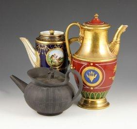 3 Porcelain Teapots