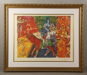 Marc Chagall, Circus Ride, Lithograph