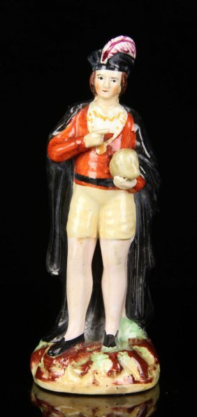 Early Staffordshire Figure Of Hamlet