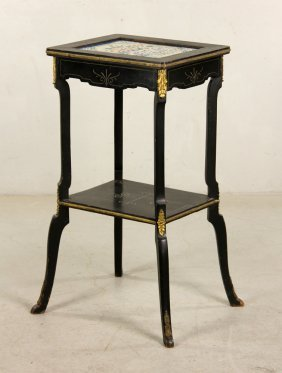 French Two-tier Longwy Table