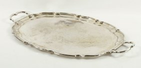 Large Sterling Silver Presentation Tray