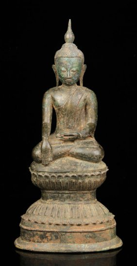 Thai Bronze Buddha Figure