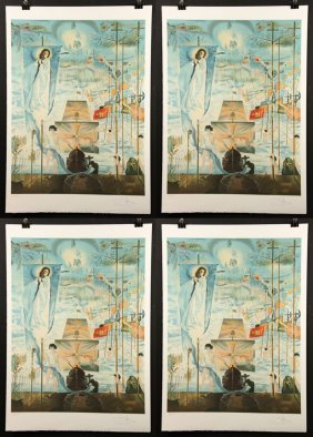 "Group Of Four Dali ""a Discovery Of America"" Lithographs"