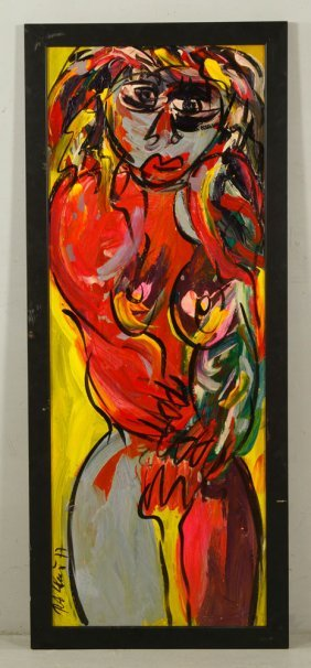 "Keil, ""abstract,"" Oil On Masonite"