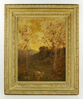 Braun, Fall Landscape, Oil