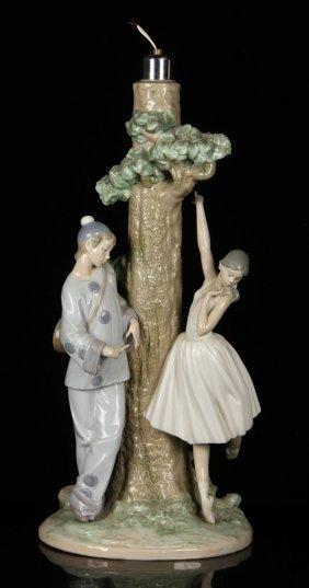 Lladro Harlequin Figural Lamp