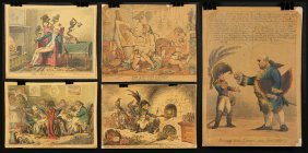 Group Of Five Hand-colored Lithographs