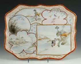 Early 20th C. Japanese Porcelain Tray