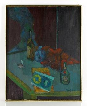 """Rubin, """"still Life,"""" Oil On Canvas"""