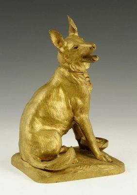 French, Faure De Brousse German Shepherd, Bronze