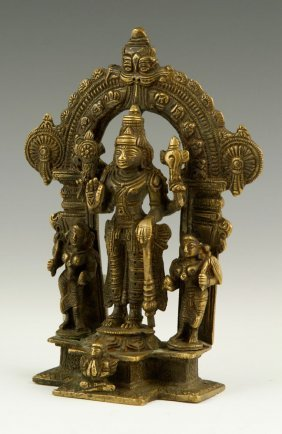 Antique Bronze Lakshmi Figure