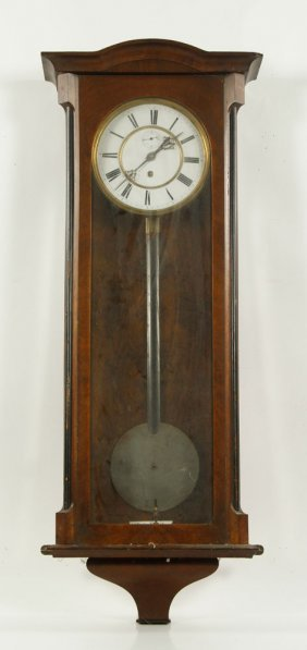 Victorian Walnut Wall Regulator Clock