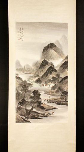 Chinese Scroll, Watercolor