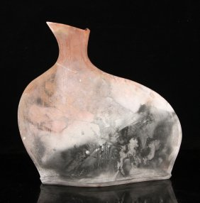 Modern Raku Ware Vase