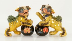 Pr. Chinese Republic Period Foo Dogs
