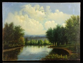 New England River, Oil On Canvas