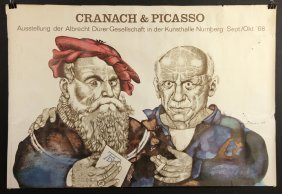 Vintage Cranach And Picasso Poster