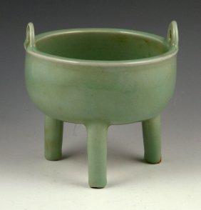 Chinese Green Glazed Censer