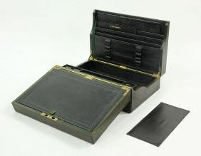 19th C. Scottish Leather Lap Desk