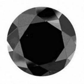 Natural Black Diamond Round Facet 7.81ct 12.5x8.5