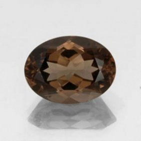Natural Smoky Topaz Oval Facet 16.45ct 17.7x14.2x10.8mm