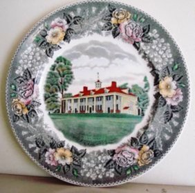 """Old English Staffordshire Ware Potteries Plate 9.3/4"""""""