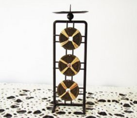 Chicness Letter Brass Candle Holder