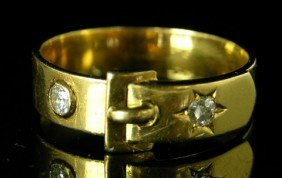 Victorian Yellow Gold Buckle Ring, 19th C., Either