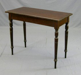 English Victorian Carved Birch Console Table, 19th