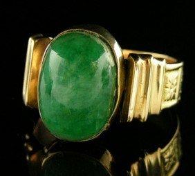 Man's 14K Rose Gold Art Deco Dinner Ring, C. 1930,