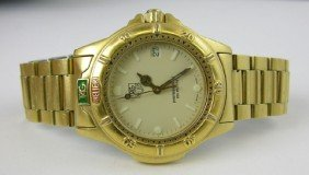 """Man's Tag Heuer """"Professional"""" Gold Plated Stainle"""