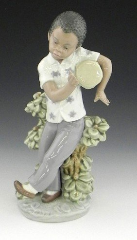 "Lladro Figure, ""Bongo Beat,"" 1982, #5157, H.- 9 In"