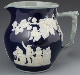 Copeland Spode Cobalt Glazed Pitcher, C. 1900, The
