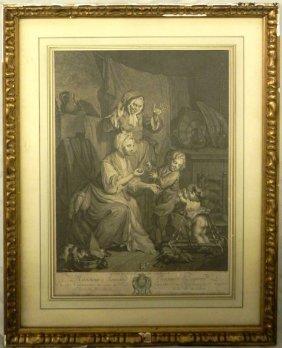 """J. F. Schenau, """"Le Premier Pas De L'Enfance,"""" 19th"""