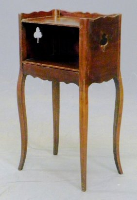 Louis XV Style Carved Fruitwood Night Stand, Early